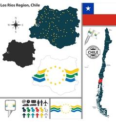 Map of Los Rios vector image vector image