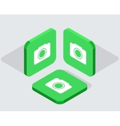 modern 3 isometric app icons vector image