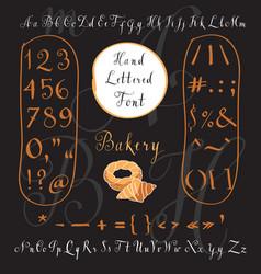 Modern hand written english alphabet vector