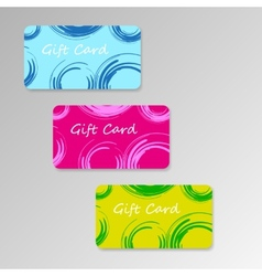 Modern three gift cards vector