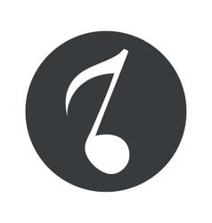 Monochrome round 8th note icon vector