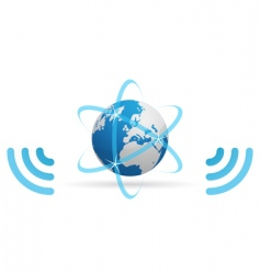 network planet waves vector image vector image
