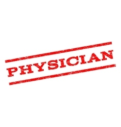 Physician watermark stamp vector