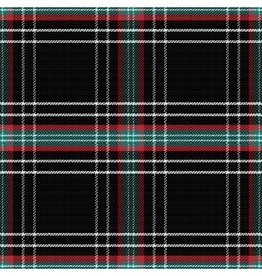 Seamless pattern scottish tartan black vector