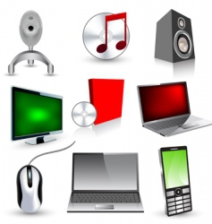 set of technology icons vector image vector image