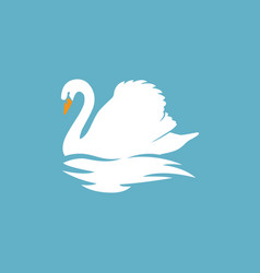 Swan logo sign emblem-13 vector