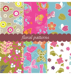 vintage patterns vector image vector image