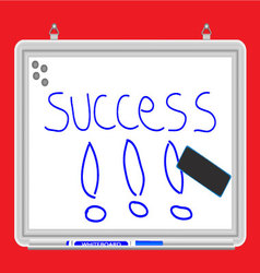 Whiteboard success vector image