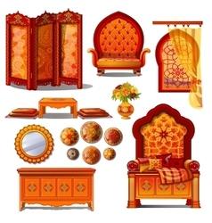 Rich luxury furniture in oriental style vector