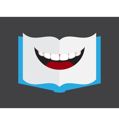 Book shape lips vector