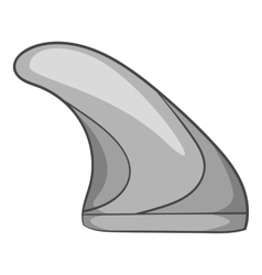 Surfing fin icon gray monochrome style vector