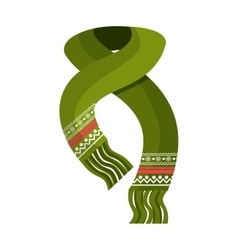 Winter scarf clothes icon vector
