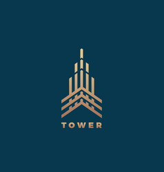 Tower abstract geometry minimal sign vector