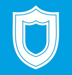 Shield icon white vector