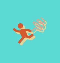 rhythmic gymnastics with ribbon design in vector image