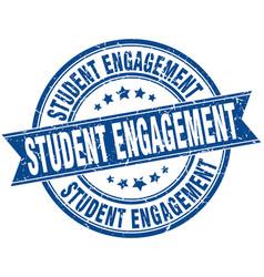 Student engagement round grunge ribbon stamp vector
