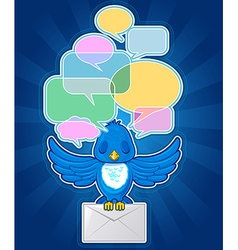 Bird with messages vector image