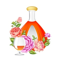 Rose and cognac abstraction vector
