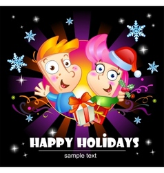Happy holidays greetings vector