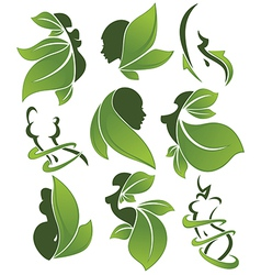 Eco health and beauty vector