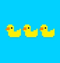 Pixel Ducks vector image