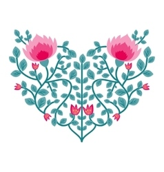 Decorative floral heart vector
