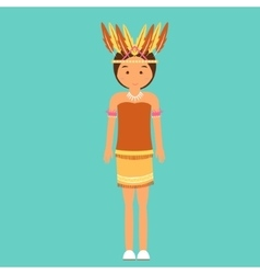 Indonesian traditional clothes woman dress irian vector