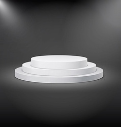 White stage 3d and soft light vector