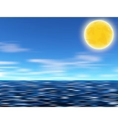 Sun blue sky and sea vector