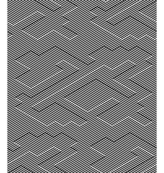 Abstract Black and White Striped Seamless Pattern vector image vector image