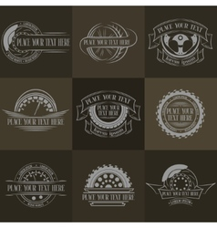 Auto badges with place for text vector image vector image