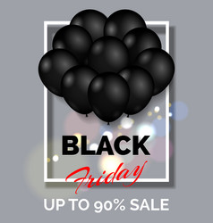 black friday shopping poster vector image