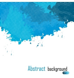 Blue abstract paint splashes background wit vector image vector image