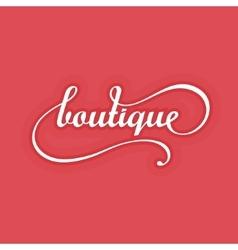 Boutique Logo Design vector image