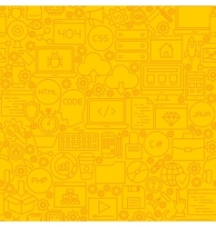 Coding yellow line tile pattern vector