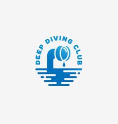 Diving club logo vector