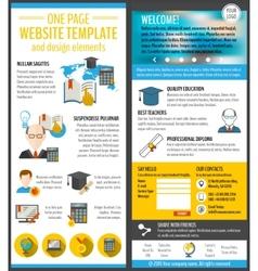 Education web site vector image vector image