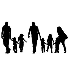 family holding hands vector image vector image