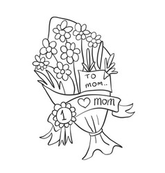 Flower for mother day collection vector