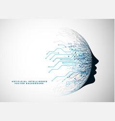 Futuristic digital face for artificial vector