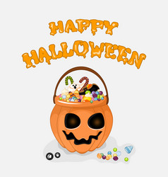 Happy halloween background with text for vector