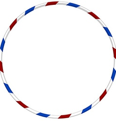 Hula hoop with blue and red striped vector