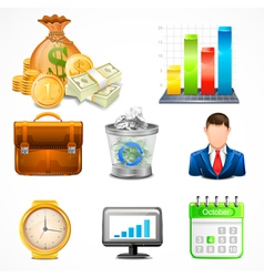 Icons Items of Business vector image vector image