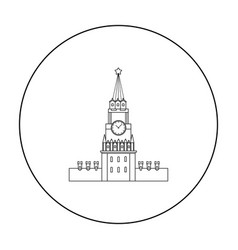 Kremlin icon in outline style isolated on white vector