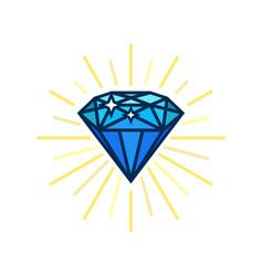 Modern diamond flat icon brilliant idea smart vector