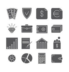 money payments finance icons isolated on vector image vector image