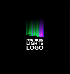 Northern lights logo vector
