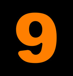 Number 9 sign design template element orange icon vector