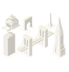Nyc map 04 building isometric vector