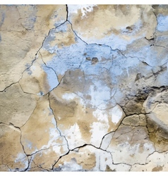 Old cracked plaster texture vector